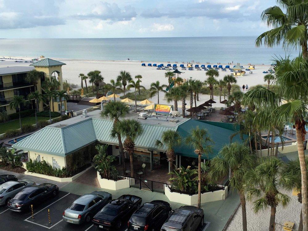 harry's beach bar aerial view