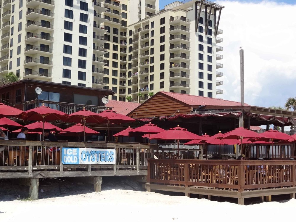 Sharky's Beachfront Restaurant Exterior