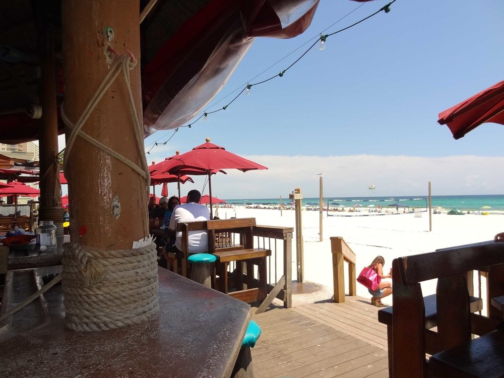 Sharky's Beachfront Restaurant Beach View