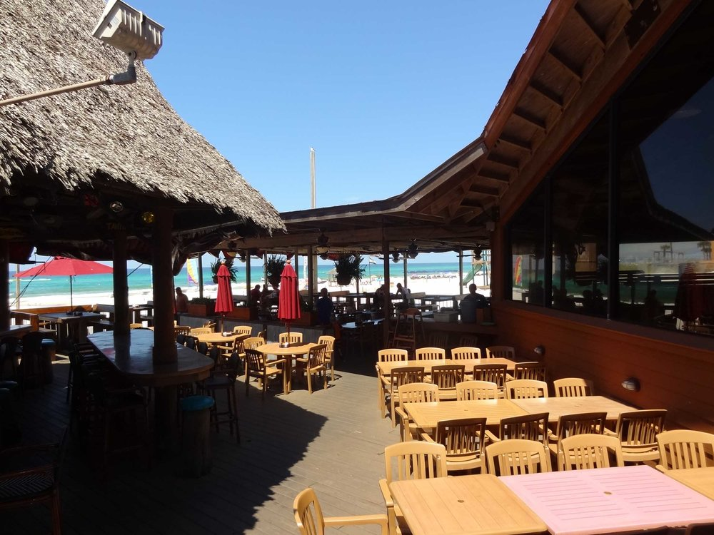 Sharky's Beachfront Restaurant Dining Area