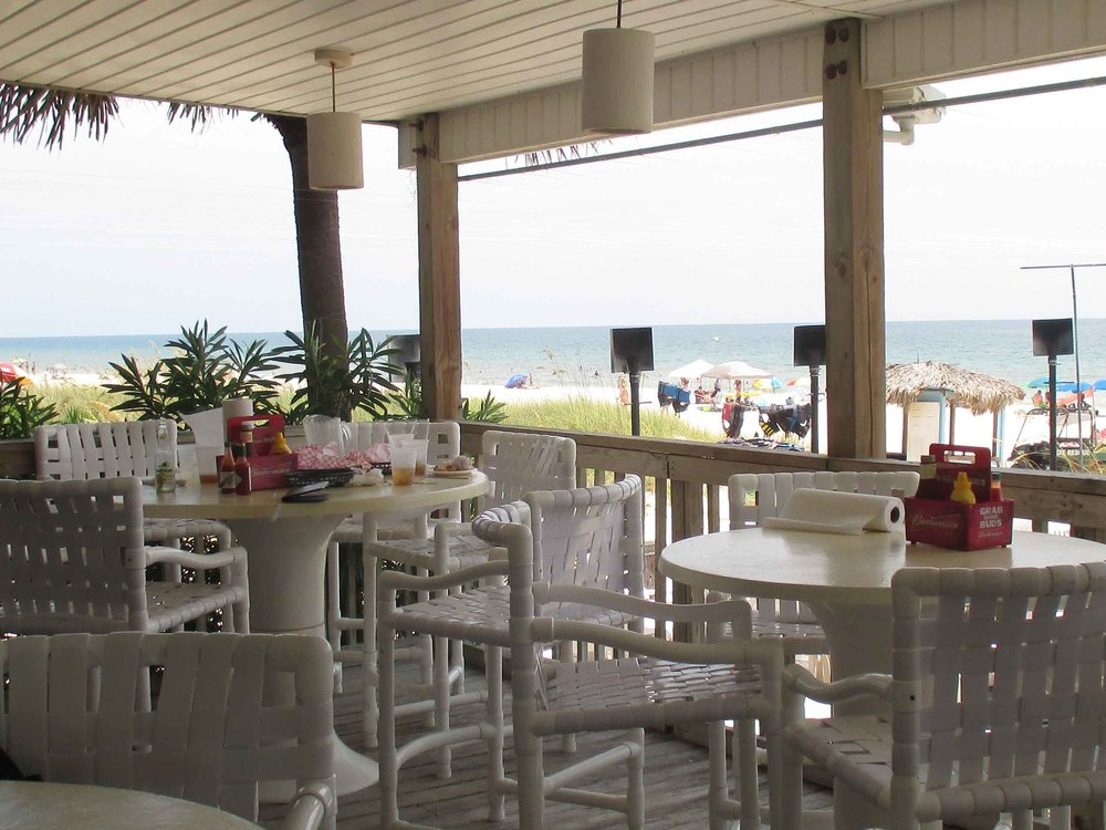 The Blue Parrot Oceanfront Cafe Patio Tables