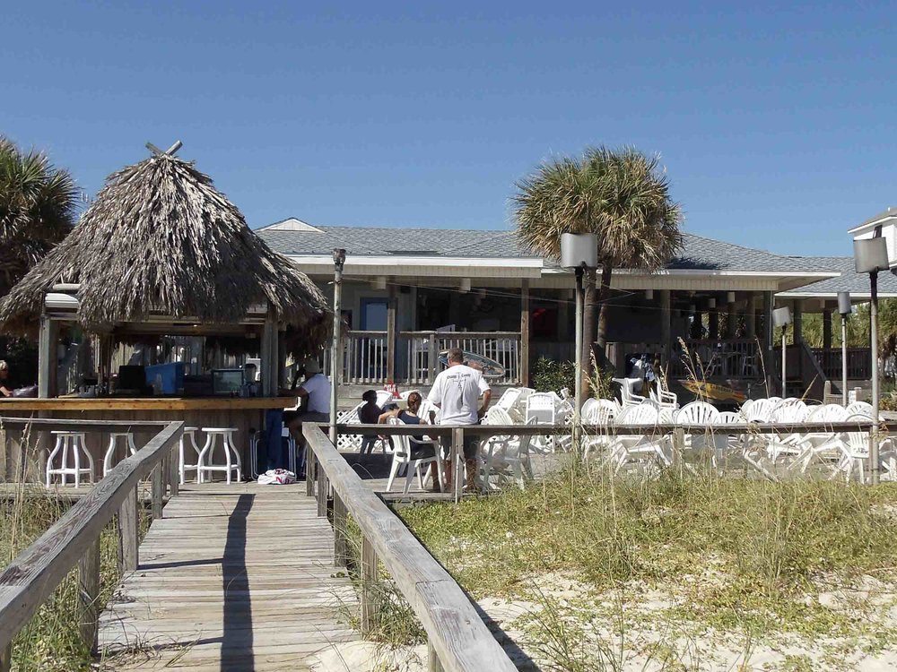 The Blue Parrot Oceanfront Cafe Exterior