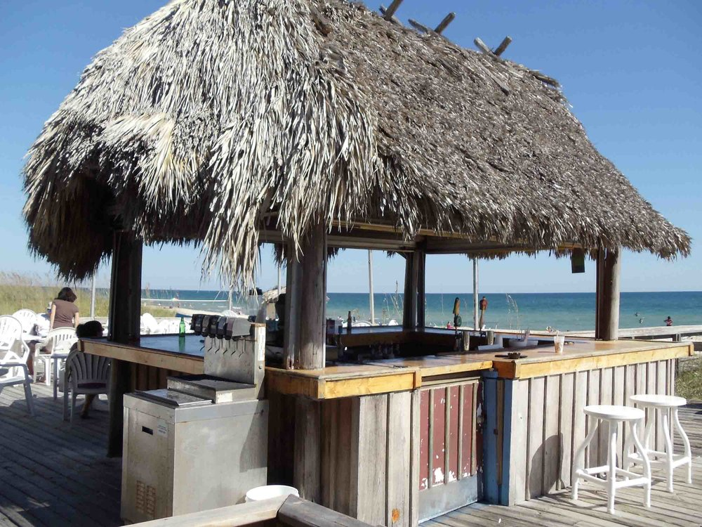 The Blue Parrot Oceanfront Cafe Tiki Bar