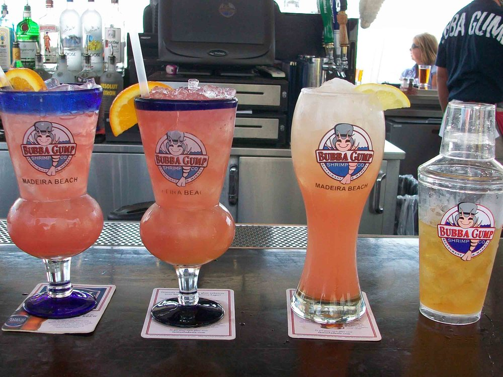 Bubba Gump Shrimp Co Drinks