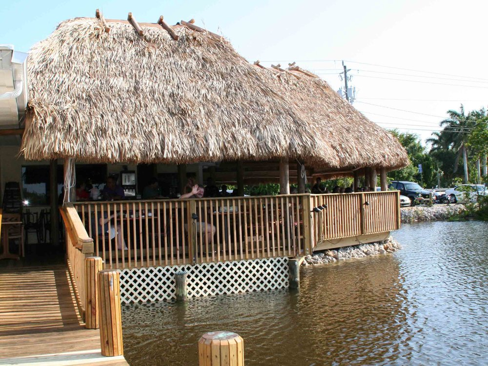 Coconut Jack's Waterfront Grille Tiki Hut