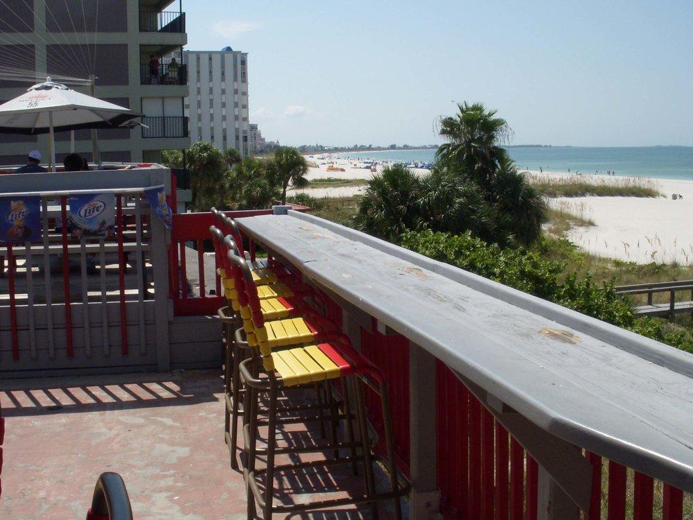 Crabby Bill's Deck Beach View