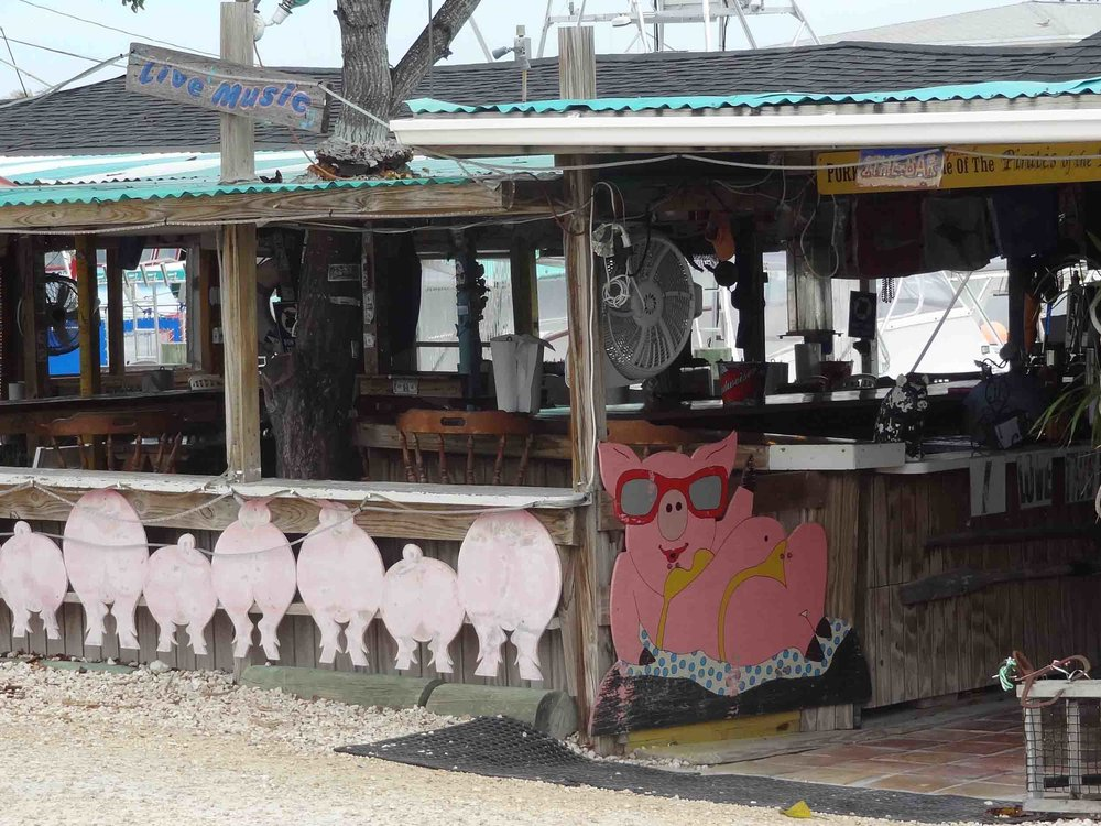 Porky's Bayside Restaurant and Marina Entrance
