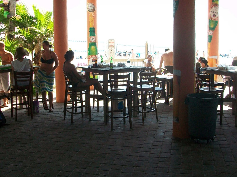Flipper's Beach Bar Tables