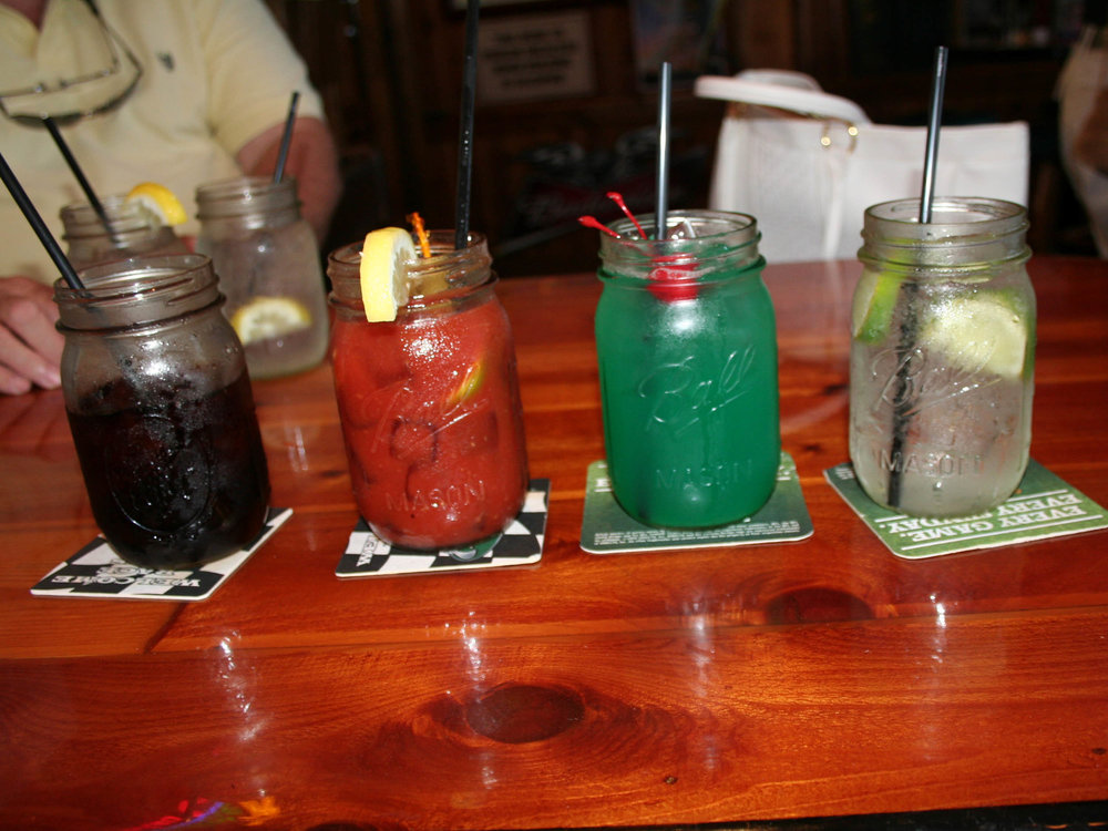 Ocean Deck Restaurant and Beach Club Mason Jar Drinks