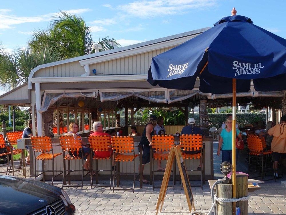 Flounder's Restaurant and Tiki Bar Outside Bar