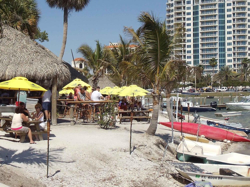 Oleary's Tiki Bar and Grill Beach Area