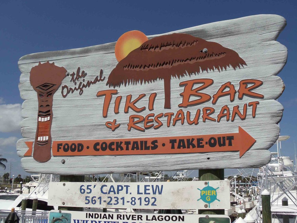 Original Tiki Bar Sign