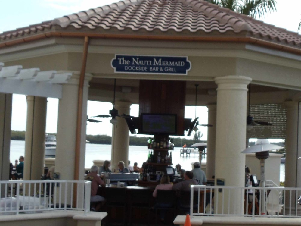 Nauti Mermaid Dockside Bar Area
