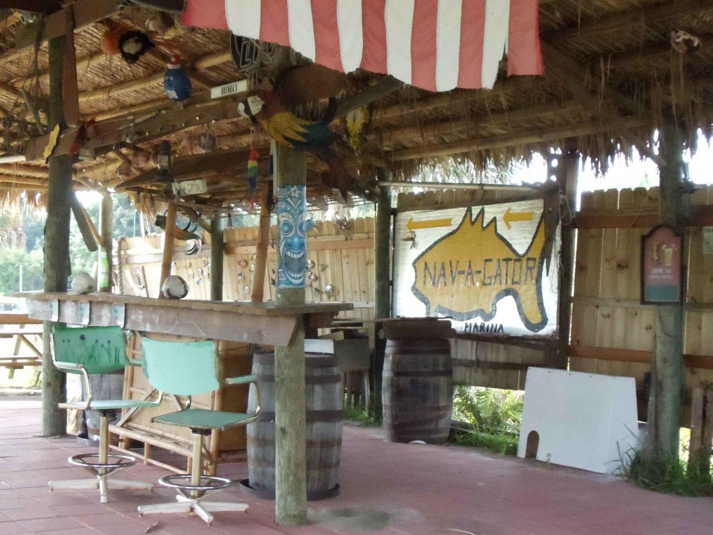 Outside Bar Nav A Gator Grill Florida Beach Bar