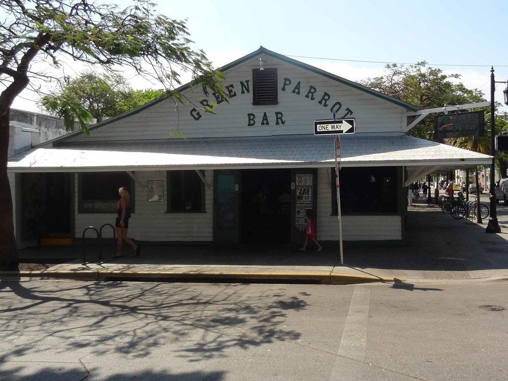 Green Parrot Bar Entrance
