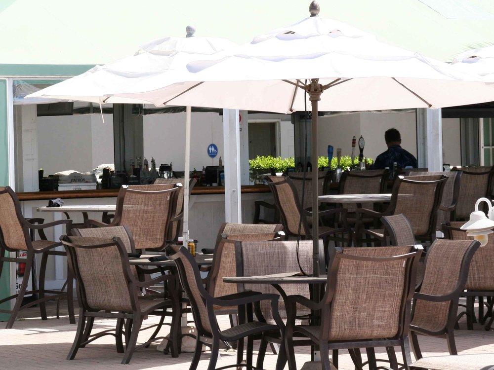 Lido Beach Resort Tiki Bar Seating Area