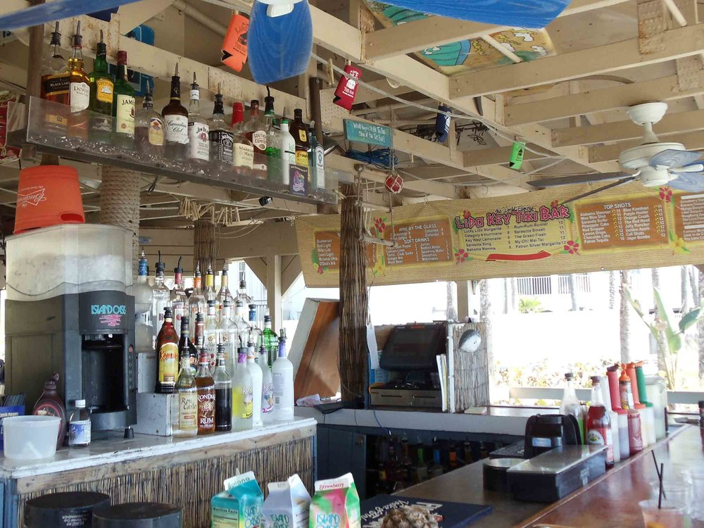 Lido Key Tiki Bar Area