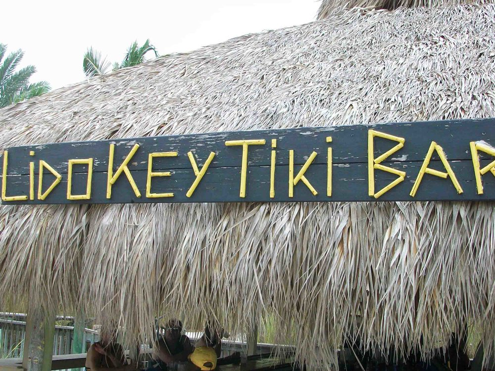 Lido Key Tiki Bar Sign