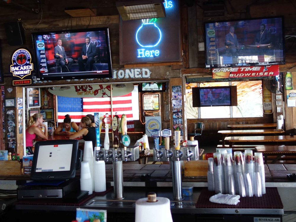 Lulu's Bait Shack Bar Area