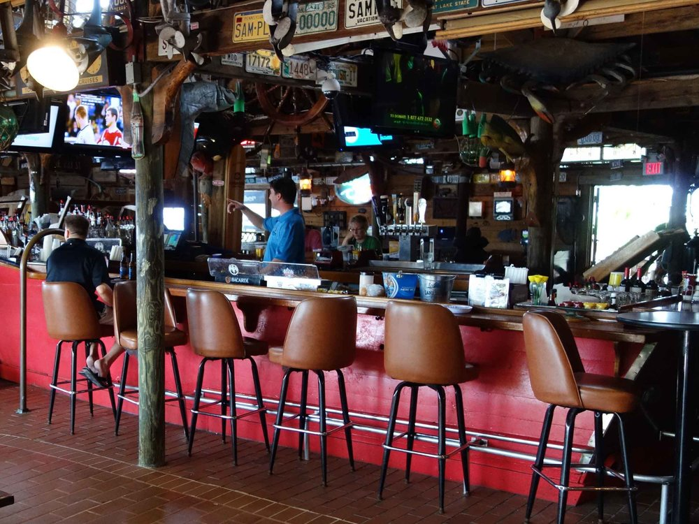 Hidden Treasure Rum Bar and Grill Inside Bar