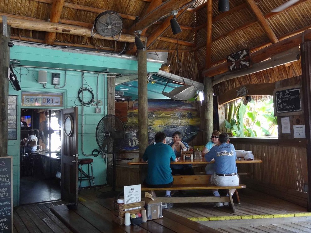Hogfish Bar and Grill Inside Seating Area