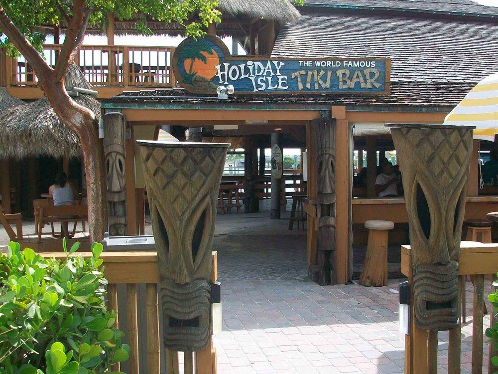 Holiday Isle Tiki Bar Entrance