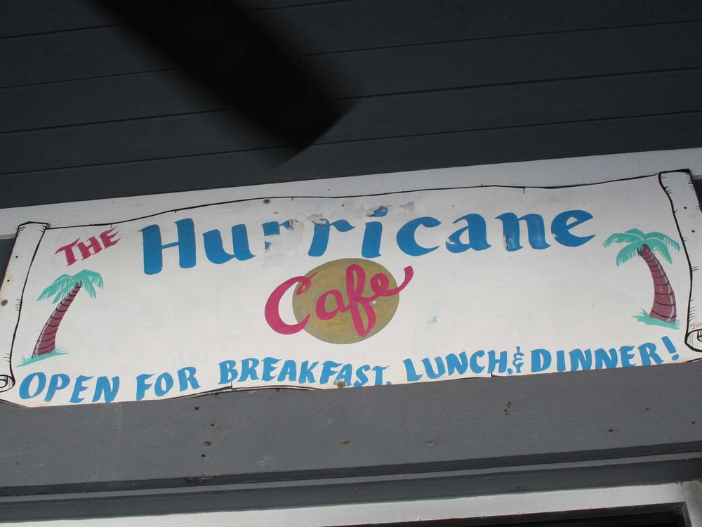 Hurricane Seafood Restaurant Sign