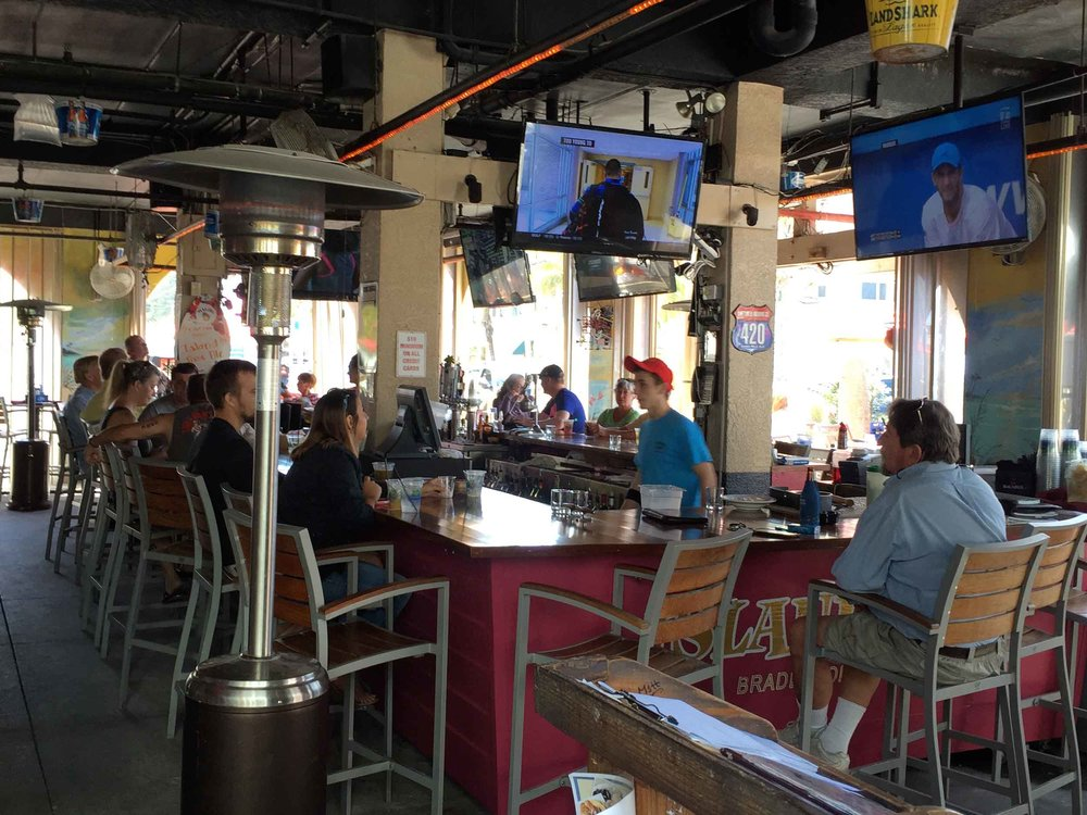 Island Time Bar and Grill Seating Area