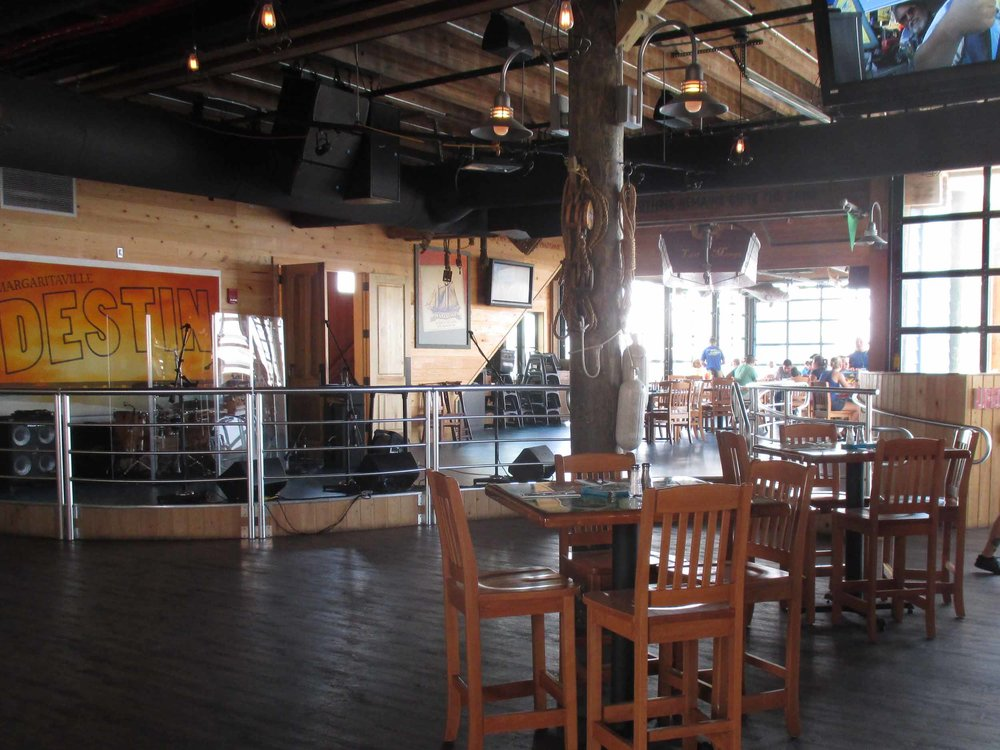 Jimmy Buffett's Margaritaville Interior Seating Area and Stage