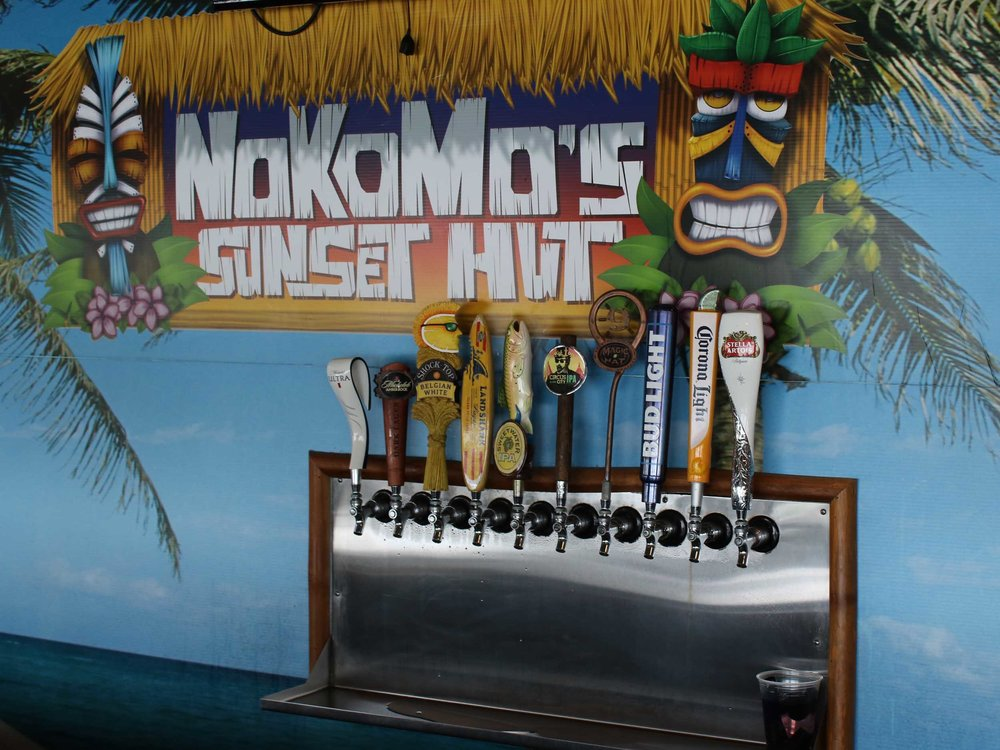 Nokomos Sunset Hut Beer Tap