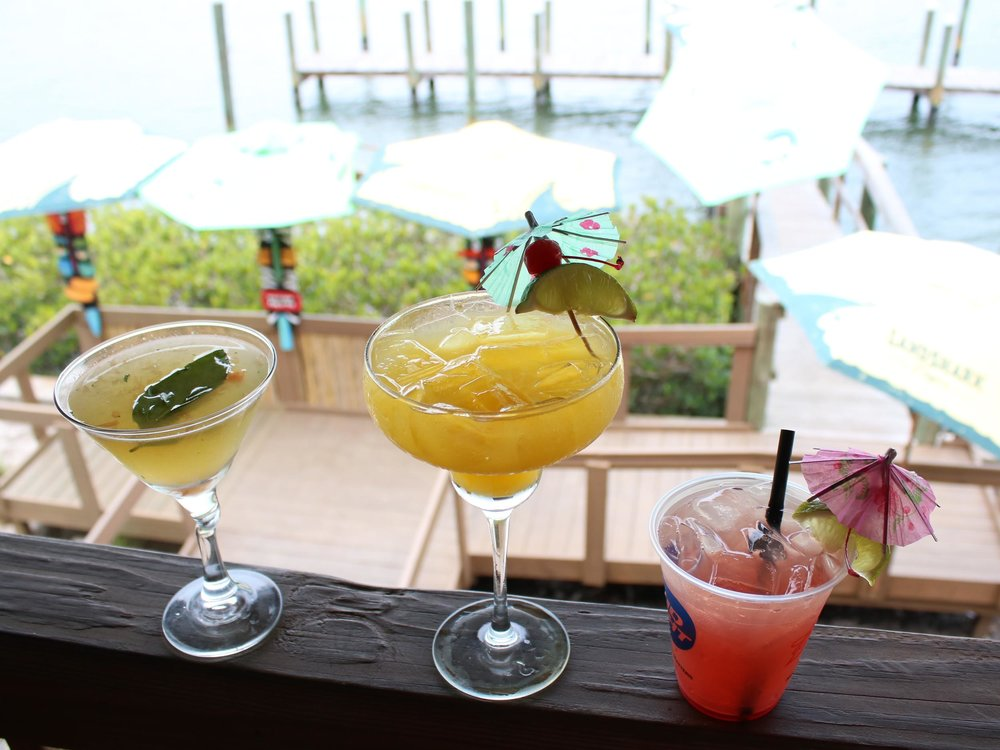 Grapefruit Basil Martini, Margarita and The Beach Bum