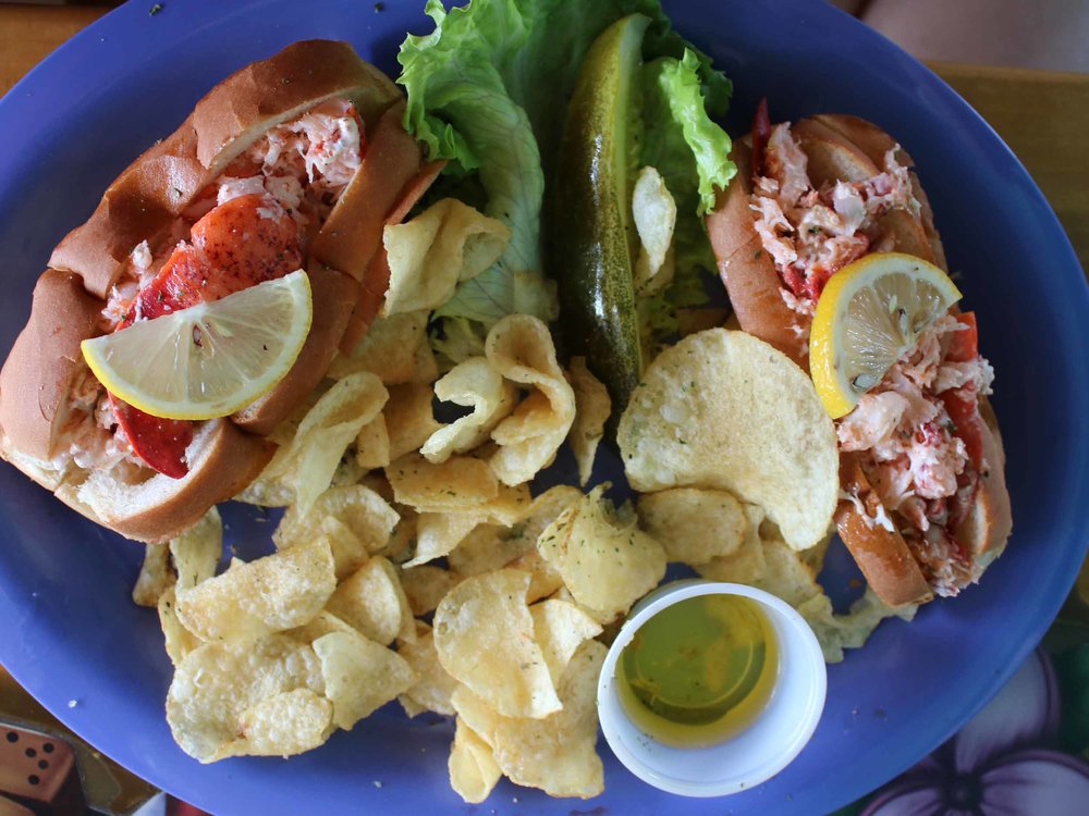 Nokomos Sunset Hut Twin Lobster Rolls