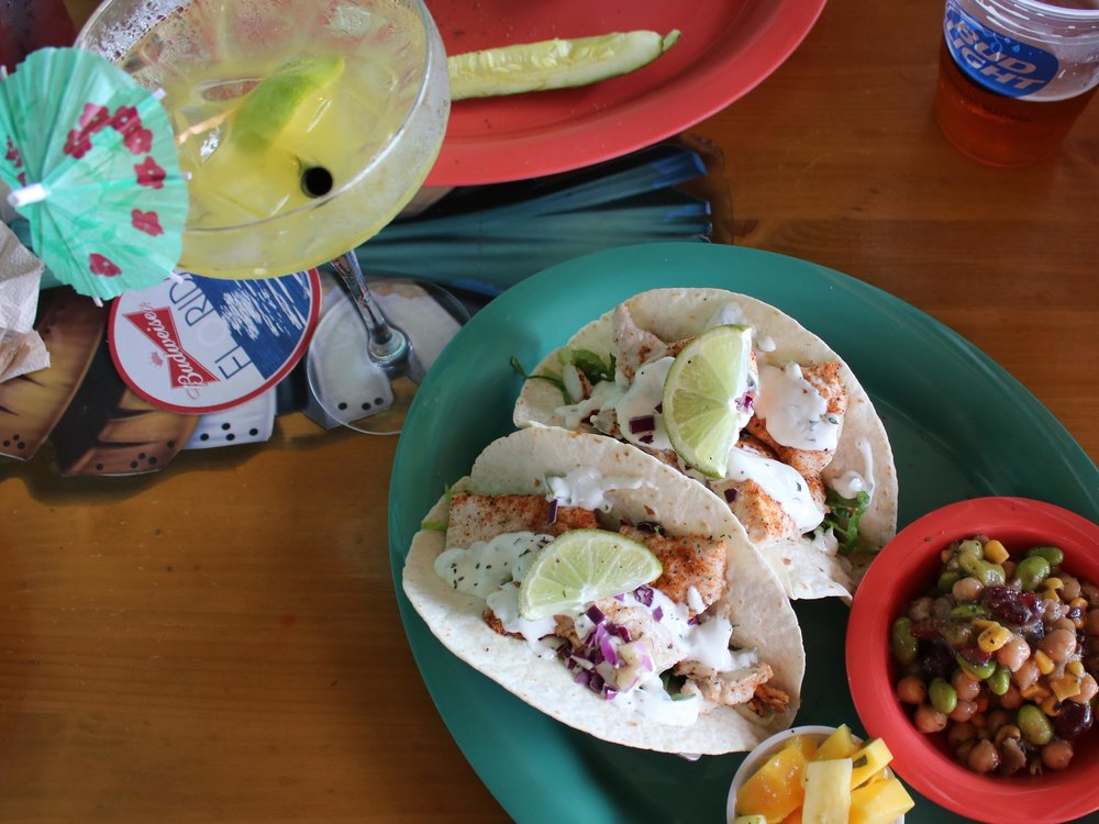 Nokomos Sunset Hut Mahi Tacos