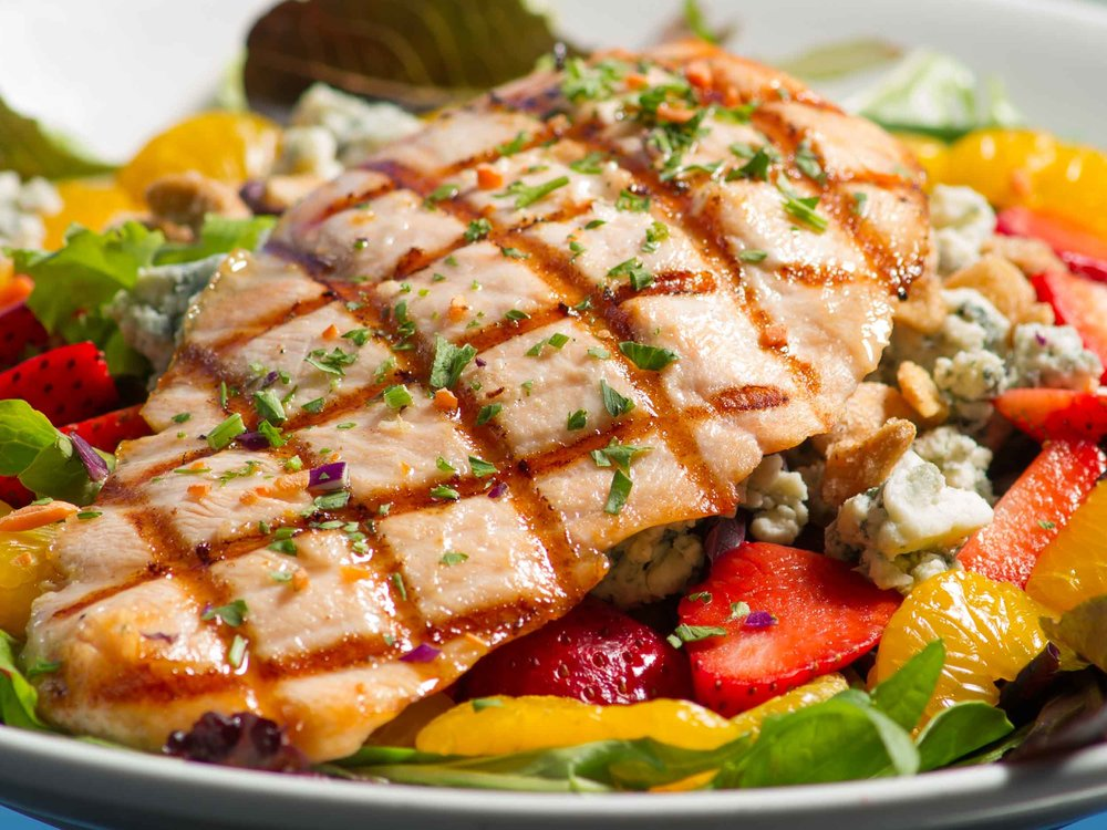 Sharky's on the Pier Salmon Entree Salad