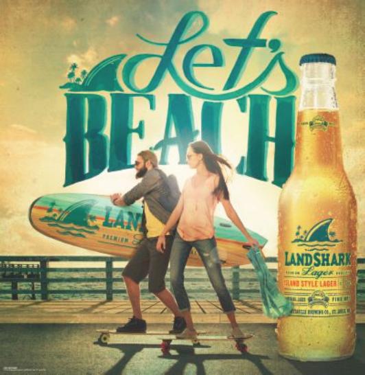 LET'S BEACH - LANDSHARK LAGER