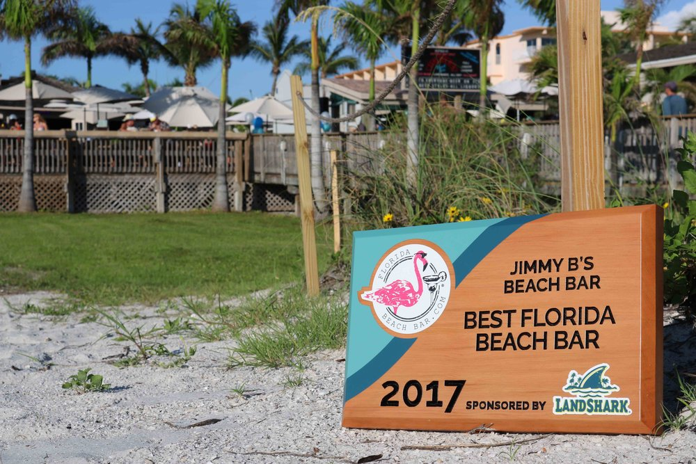 Jimmy b's Beach Bar wins the 2017 Best Florida Beach Bar award.