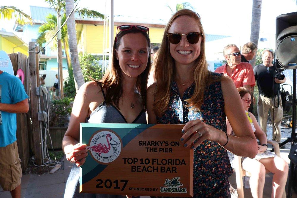 Celebrating another Top 10 Florida Beach Bar Achievement