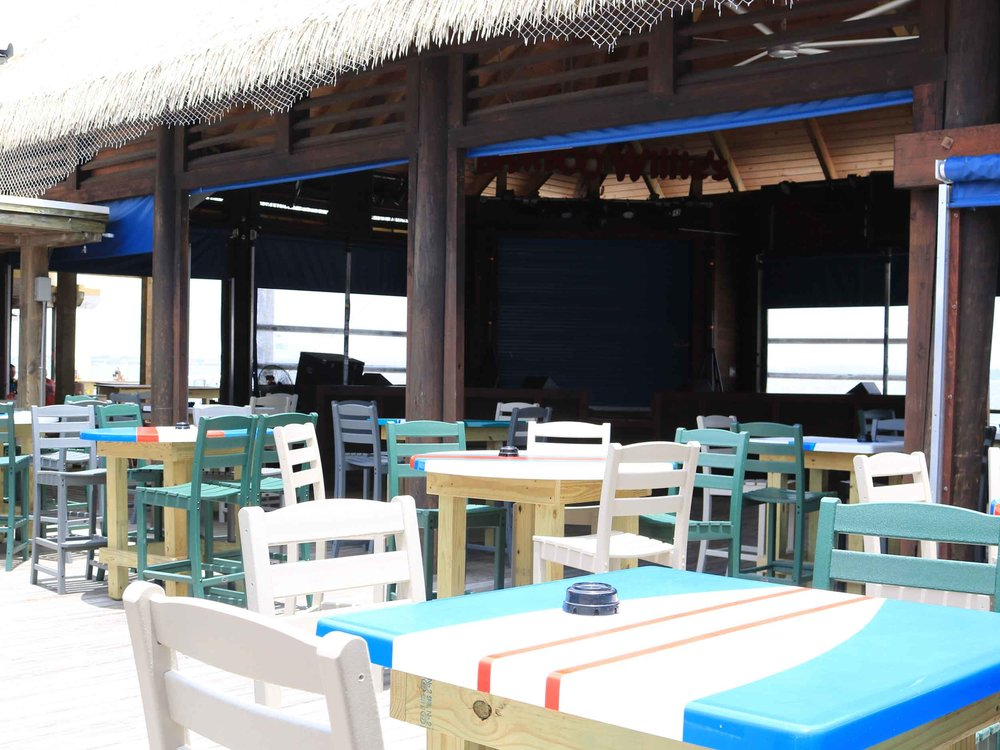 Bamboo Willies Beachside Bar Outside Tables