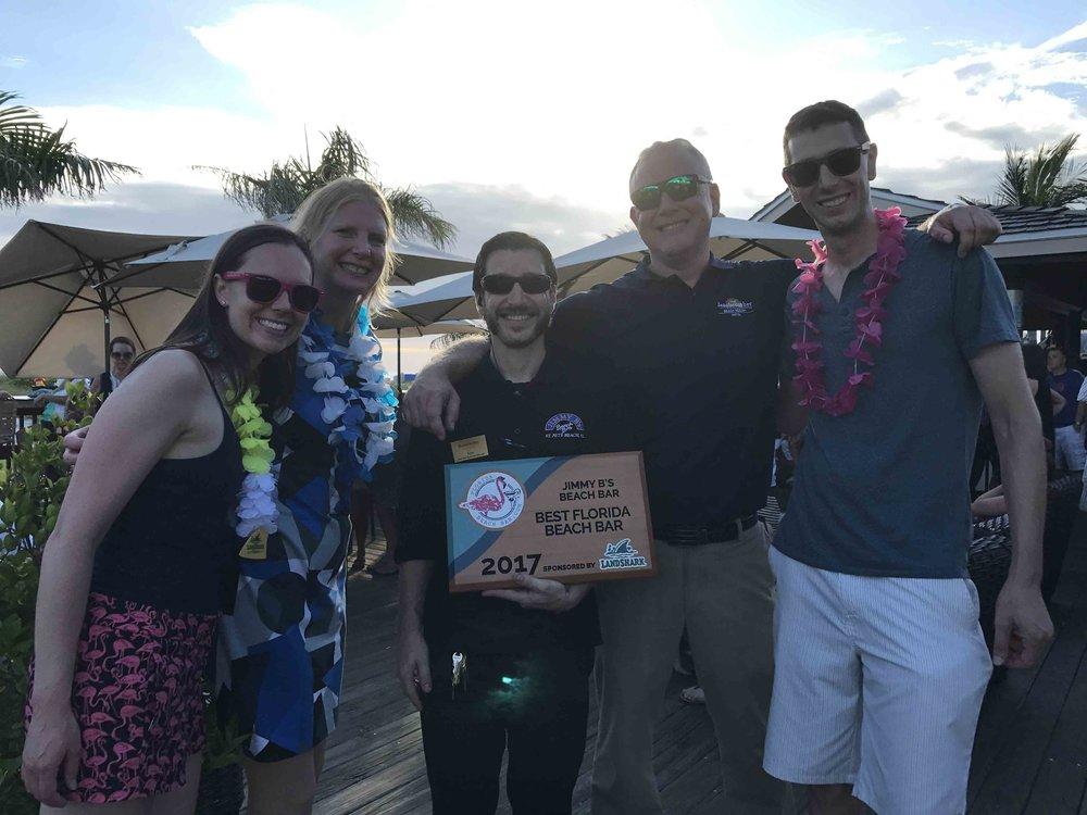 Jimmy B's Beach Bar wins the 2017 best florida beach bar award