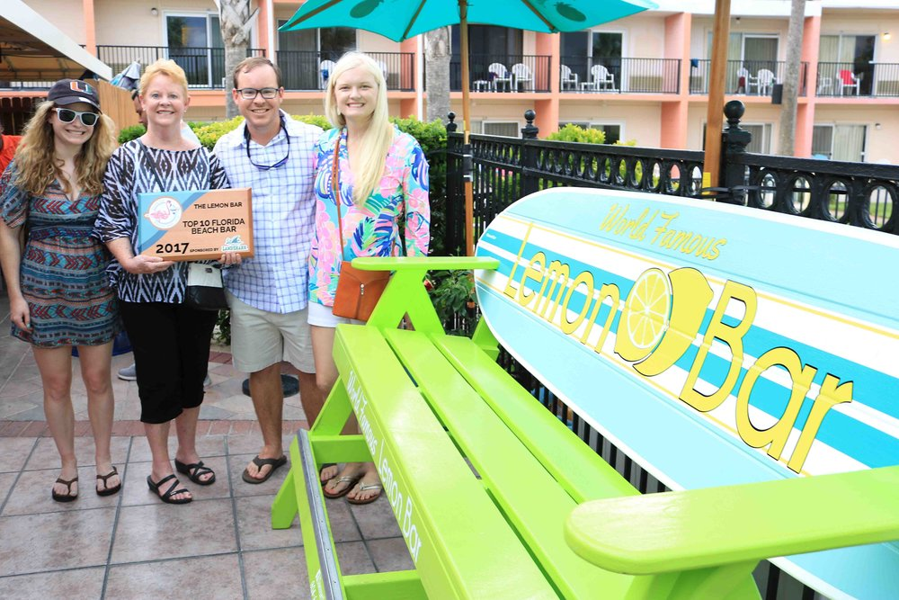 the lemon bar placed #6 and received a 2017 top 10 florida beach bar award
