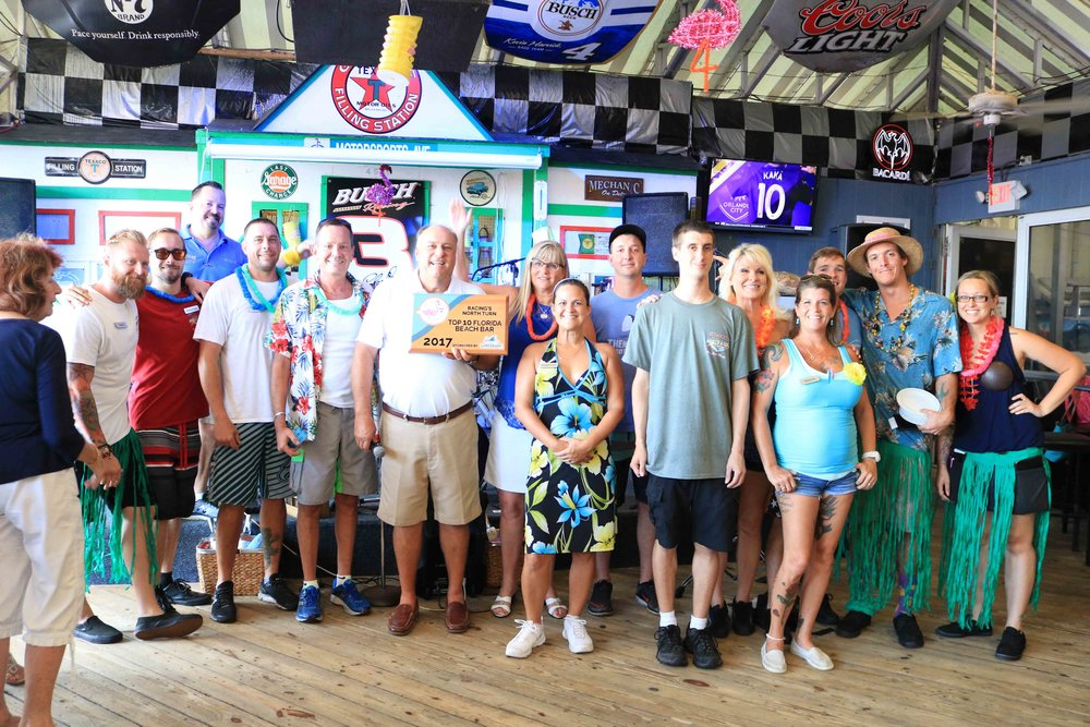 Racing's North Turn placed #7 and received a 2017 Top 10 Florida Beach Bar Award