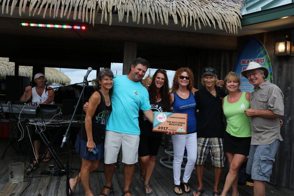 juana's pagodas placed #9 and received a 2017 10 top florida beach bar award