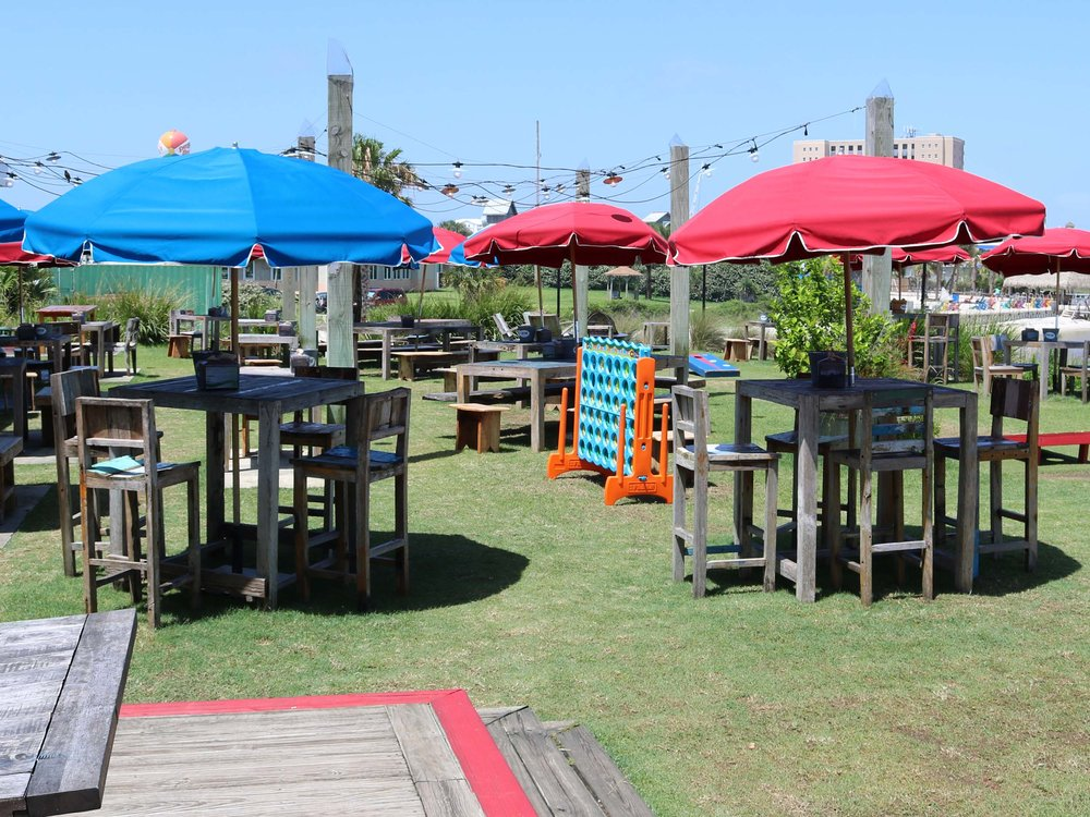 Red Fish Blue Fish Outdoor Seating Area