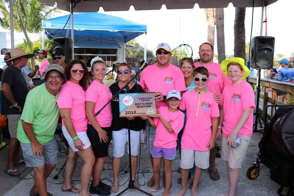 sharky's on the pier award celebration