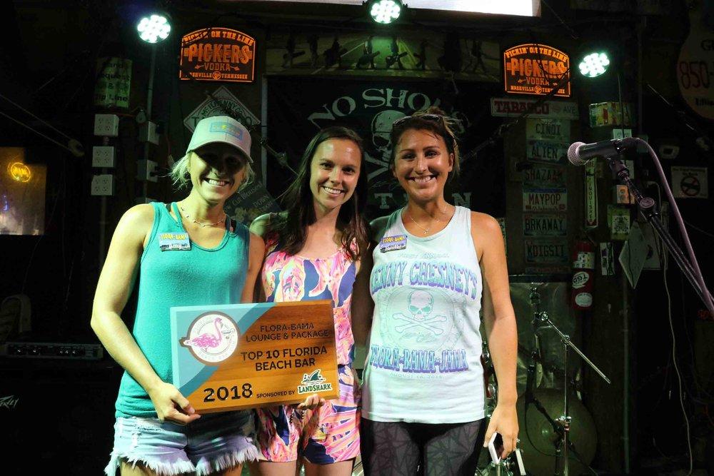 2018 Top Florida Beach Bar award party at Flora-Bama