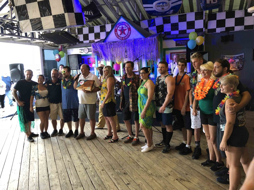 racings north turn award celebration