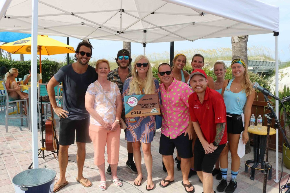 Lemon Bar accepts a 2018 Top 10 Florida Beach Bar Award Sponsored by LandShark Lager