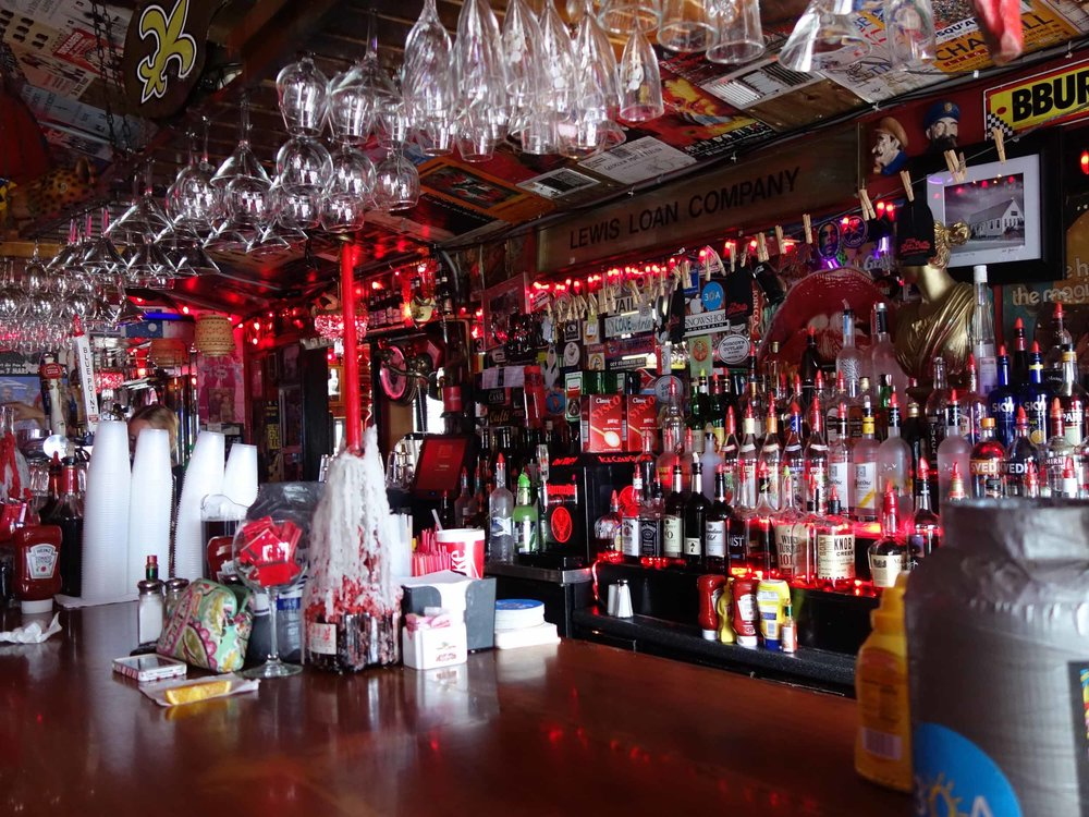 Interior bar area of the Red bar