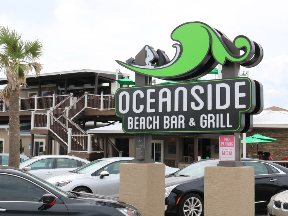 Oceanside Beach Bar and Grill Sign