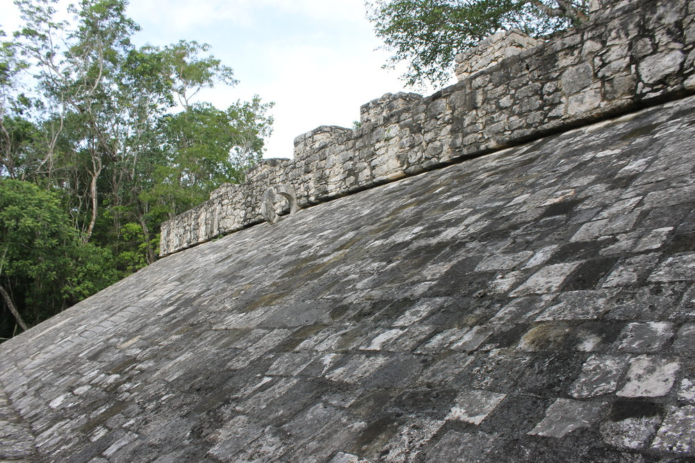 Coba, Mayan ball court, Mexico